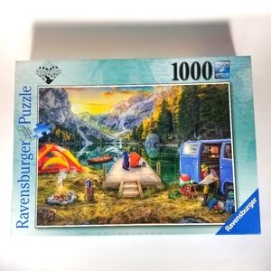 Ravensburger 1000 Piece Puzzle Wanderlust Camping Art
